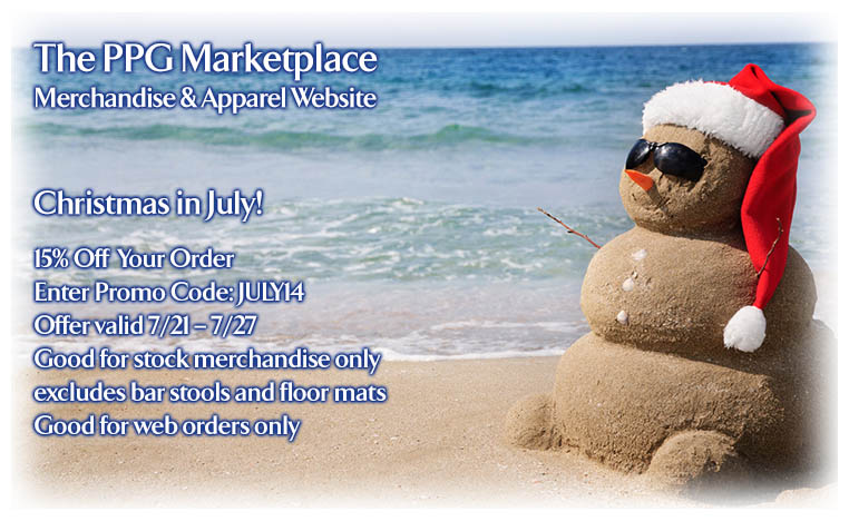 PPG Marketplace Merchandise & Apparel Website